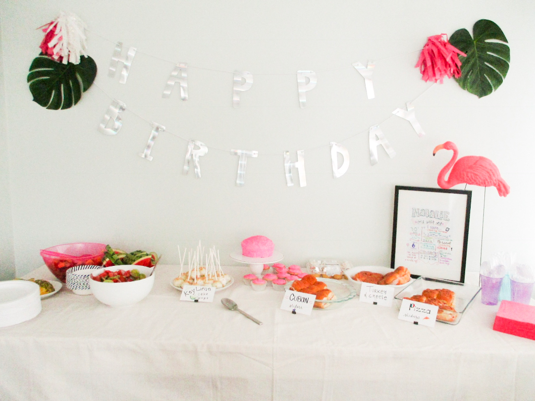 pinterest worthy party on a budget | frugal flamingo first birthday party | tropical birthday party theme ideas