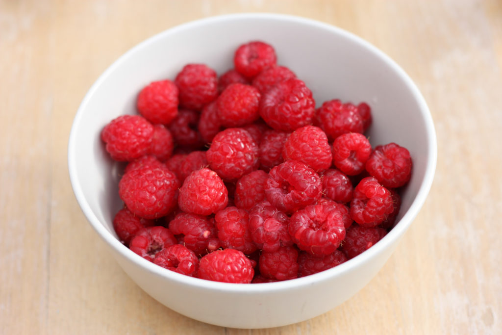 raspberries for baked brie in puff pastry