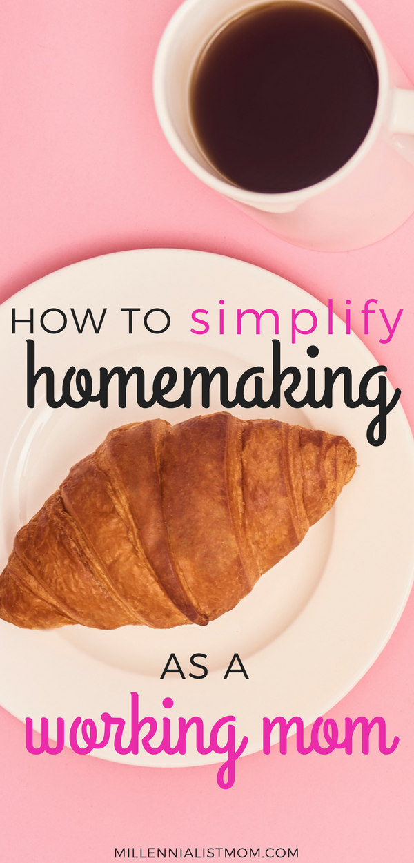 Want to see how millennials are embracing homemaking? With work and social media in the way, there is still a lot of work to get done. We've been mastering the art of productivity and time management. Check out my favorite #lifehacks for How to Simplify homemaking as a working mom. #workingmomtips #homemaking #momhacks