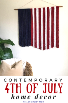 Memorial Day and 4th of July Home Decor ideas for less rustic aesthetics. I am V patriotic and just need to decorate for the holidays. But my minimal and contemporary style doesn't mesh well with the farmhouse charm. So I've curated my favorite affordable American Etsy items to grace your home this summer!