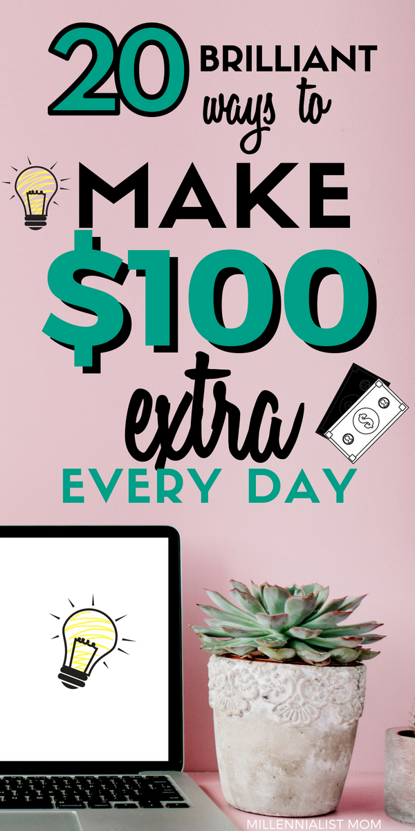 Making money isn't always easy, but here are 20 interesting ways to make $100 extra every day that you haven't thought of. Make extra money in your free time, online, or irl