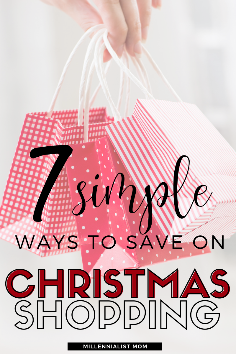 Stop wasting money on Christmas gifts! Click here for the 7 simple ways to save on christmas shopping & save time too!