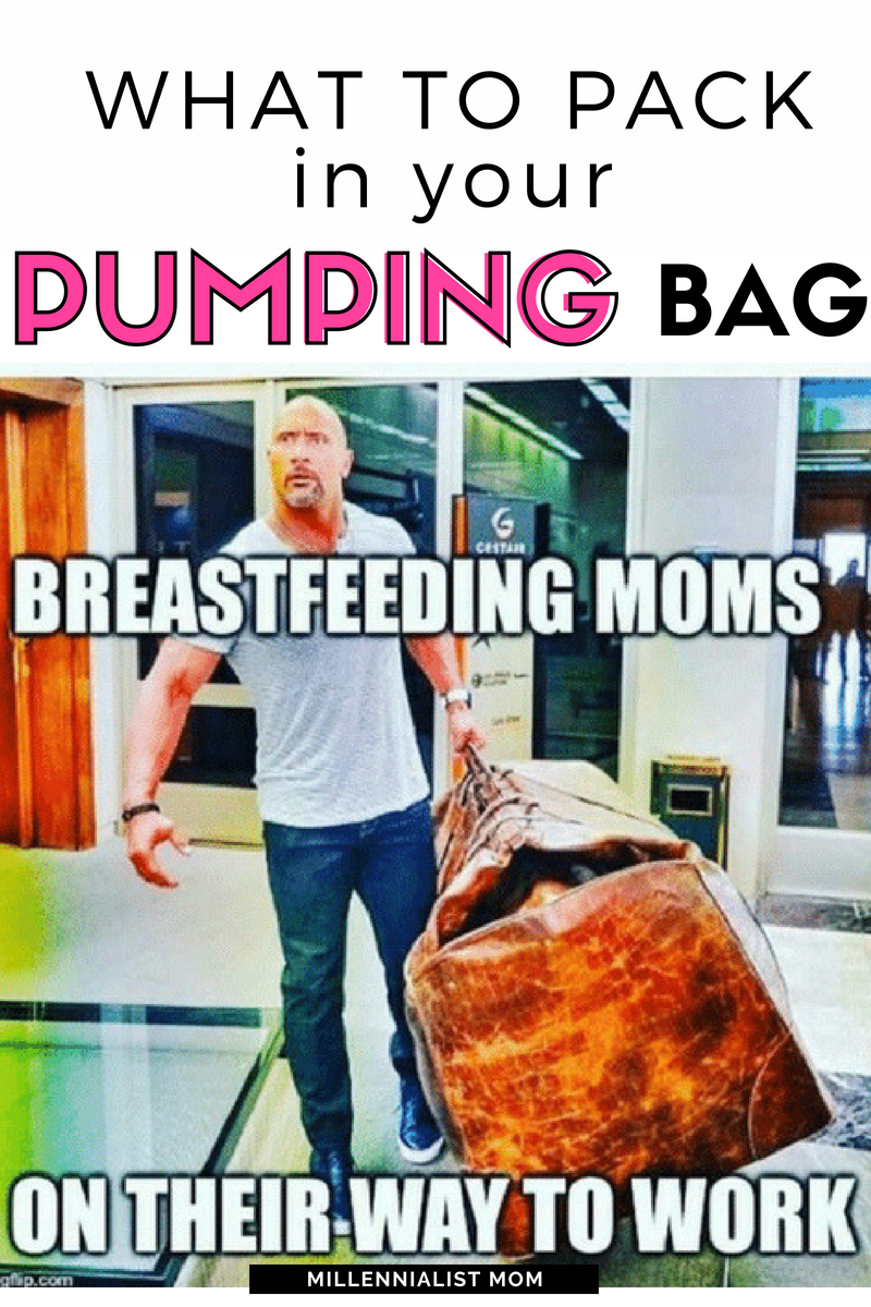 The Bare Necessities: What to Pack in your Pumping Bag! For the working, breastfeeding moms out there who don't want to show up to work like this ^^^, here's a list of everything you need (& it's not that long). #workingmom #breastfeeding #pumping #pumplife